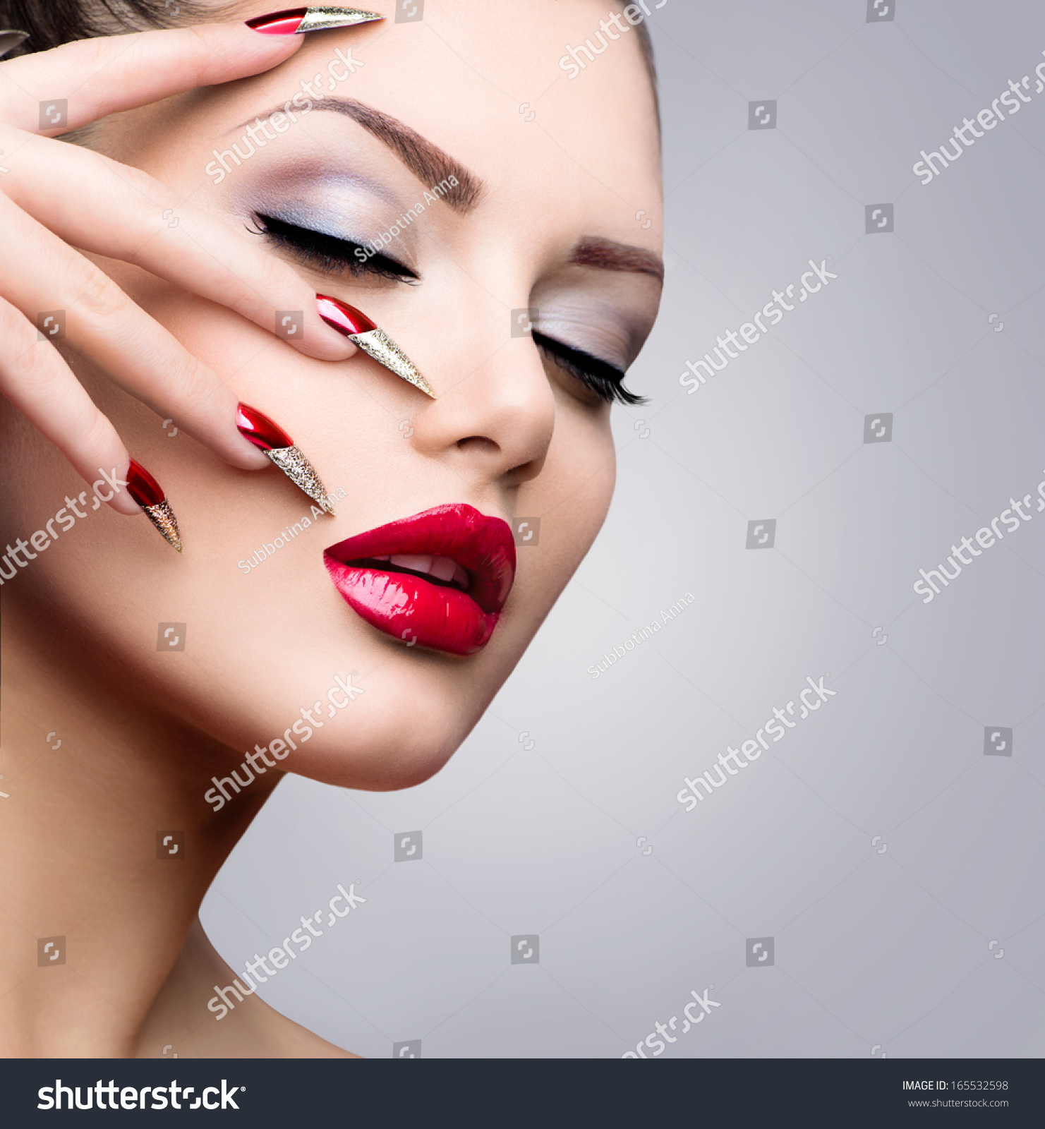 royalty free fashion beauty model girl manicure and 165532598 stock photo. Black Bedroom Furniture Sets. Home Design Ideas