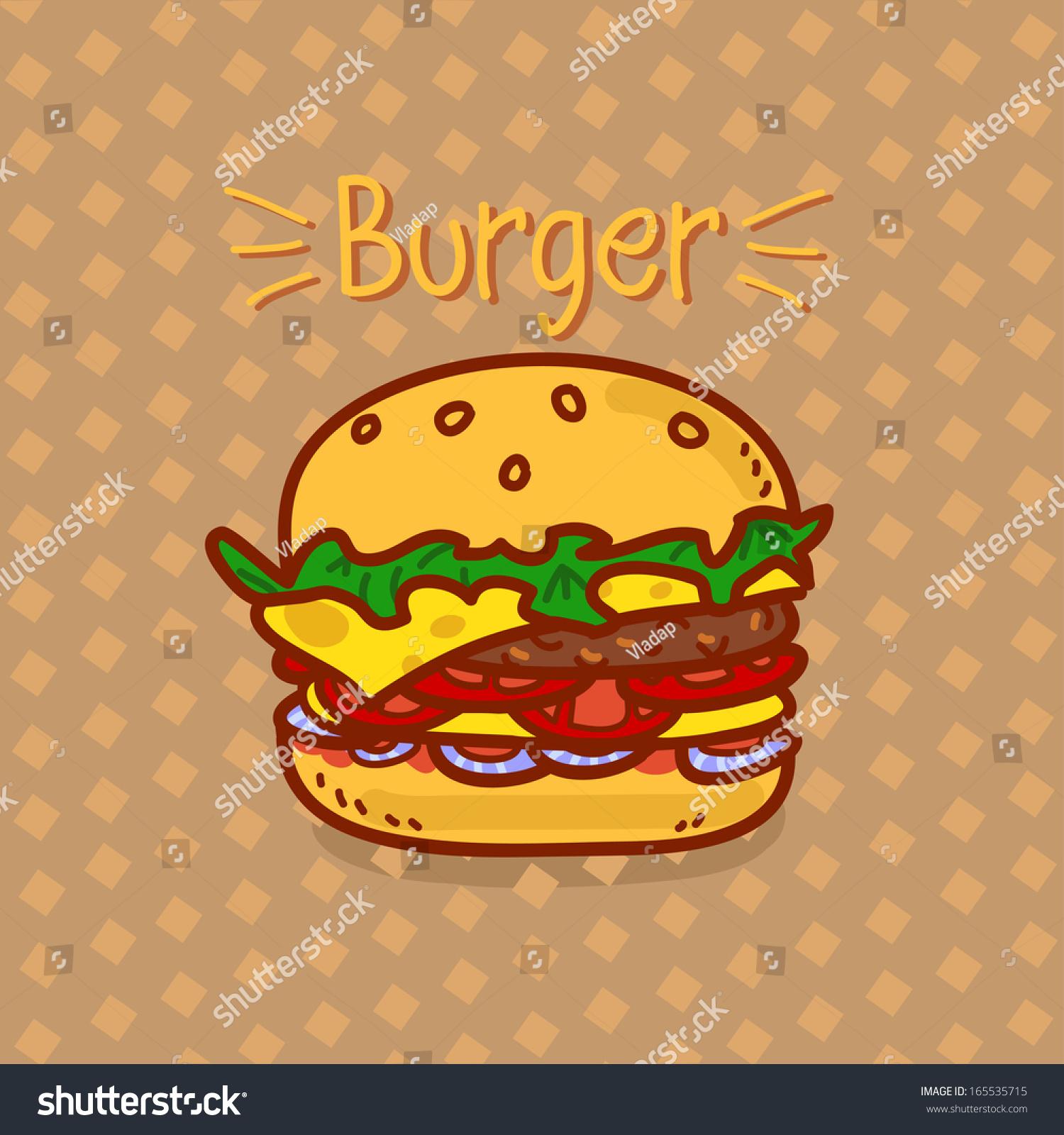 cartoon hamburger wallpaper - photo #10