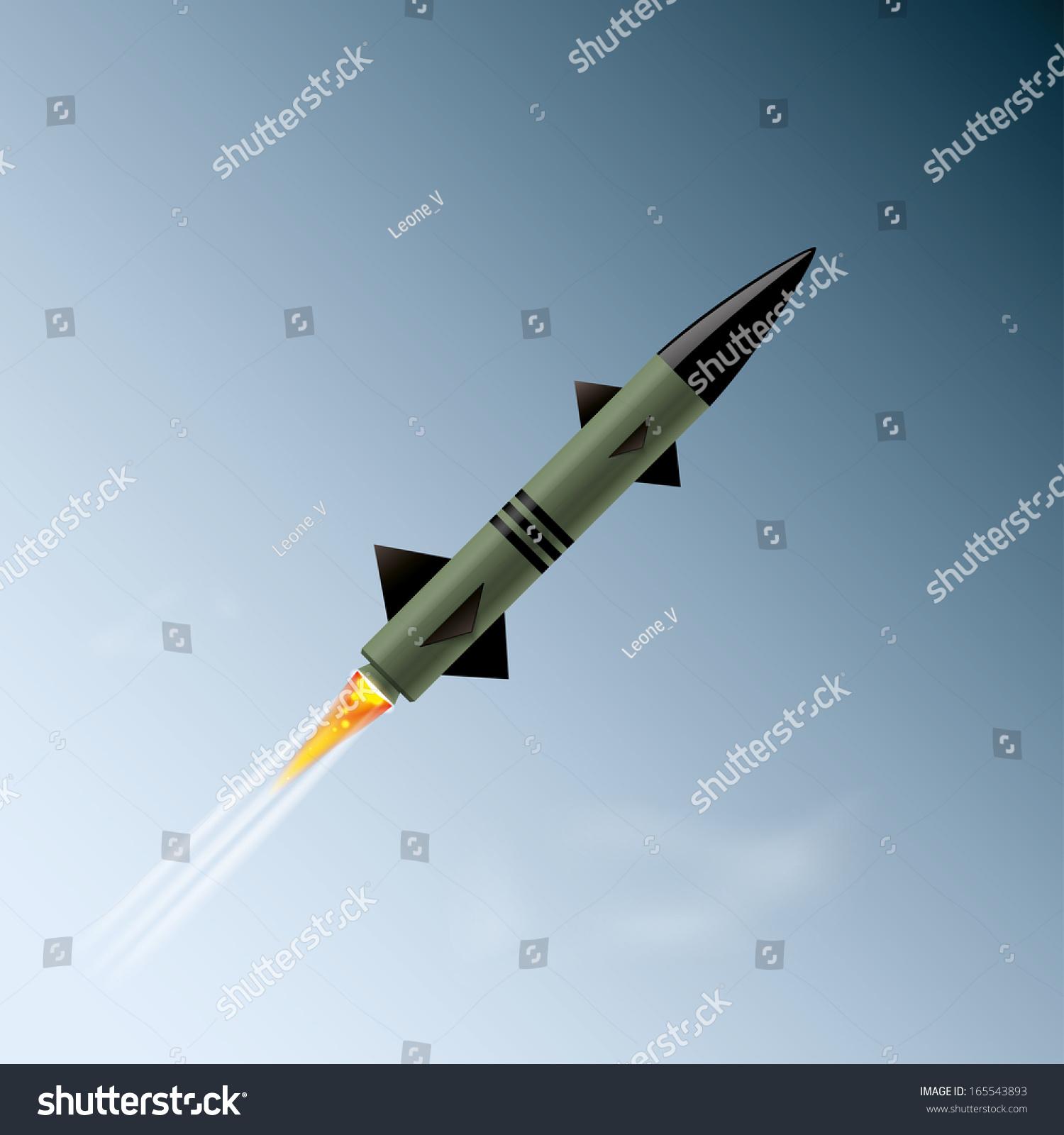 Rocket Sky Vector Illustration Eps10 Stock Vector