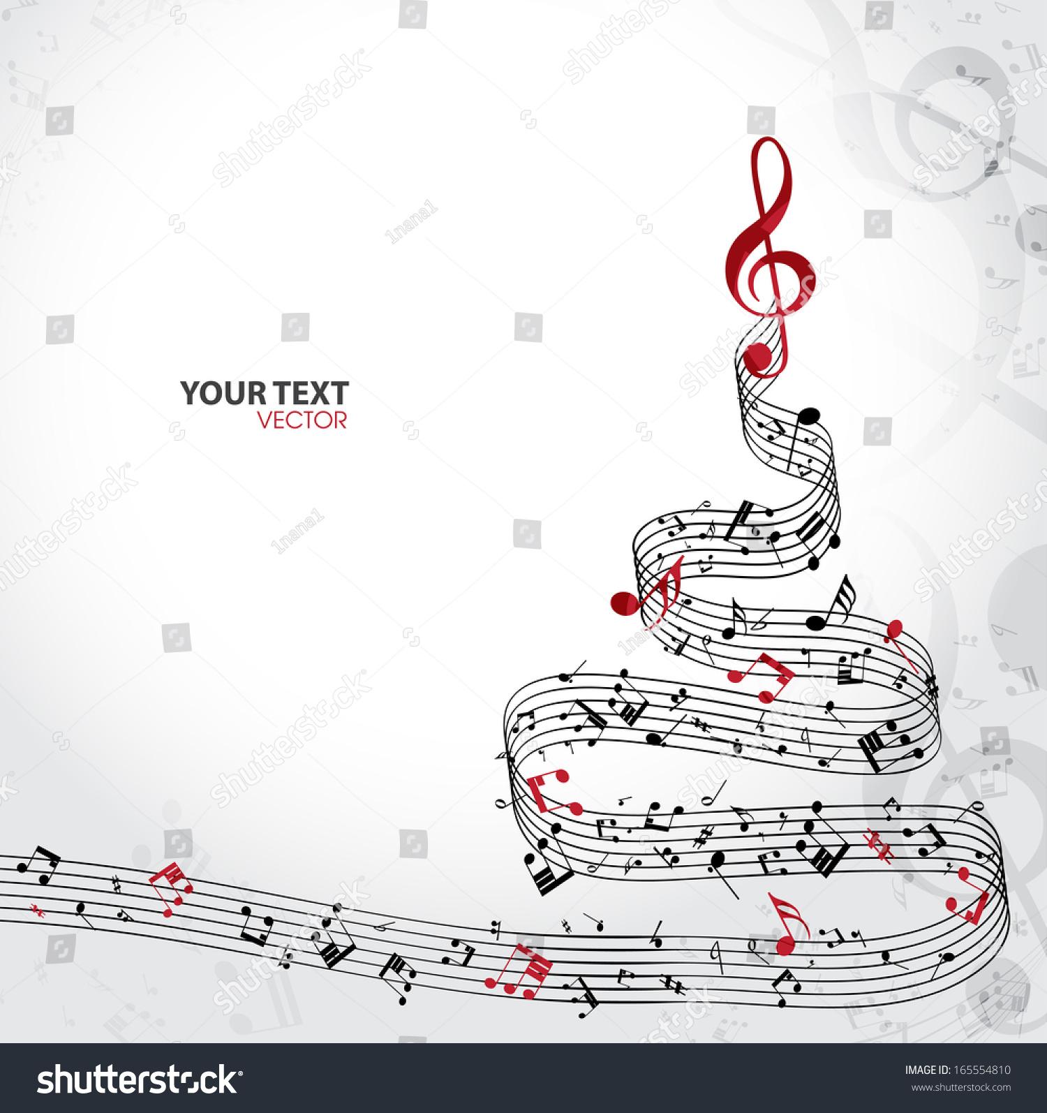 Christmas Card Musical Christmas Tree Isolated Stock Vector ...