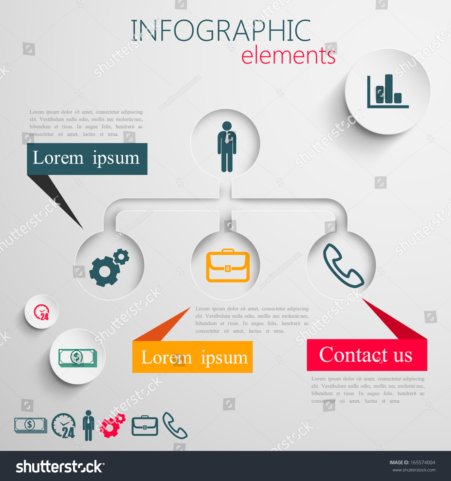 Infographic design graphic
