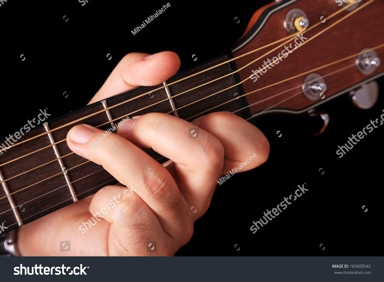 C chord on guitar stock photo 165609542 shutterstock the c chord on guitar hexwebz Choice Image