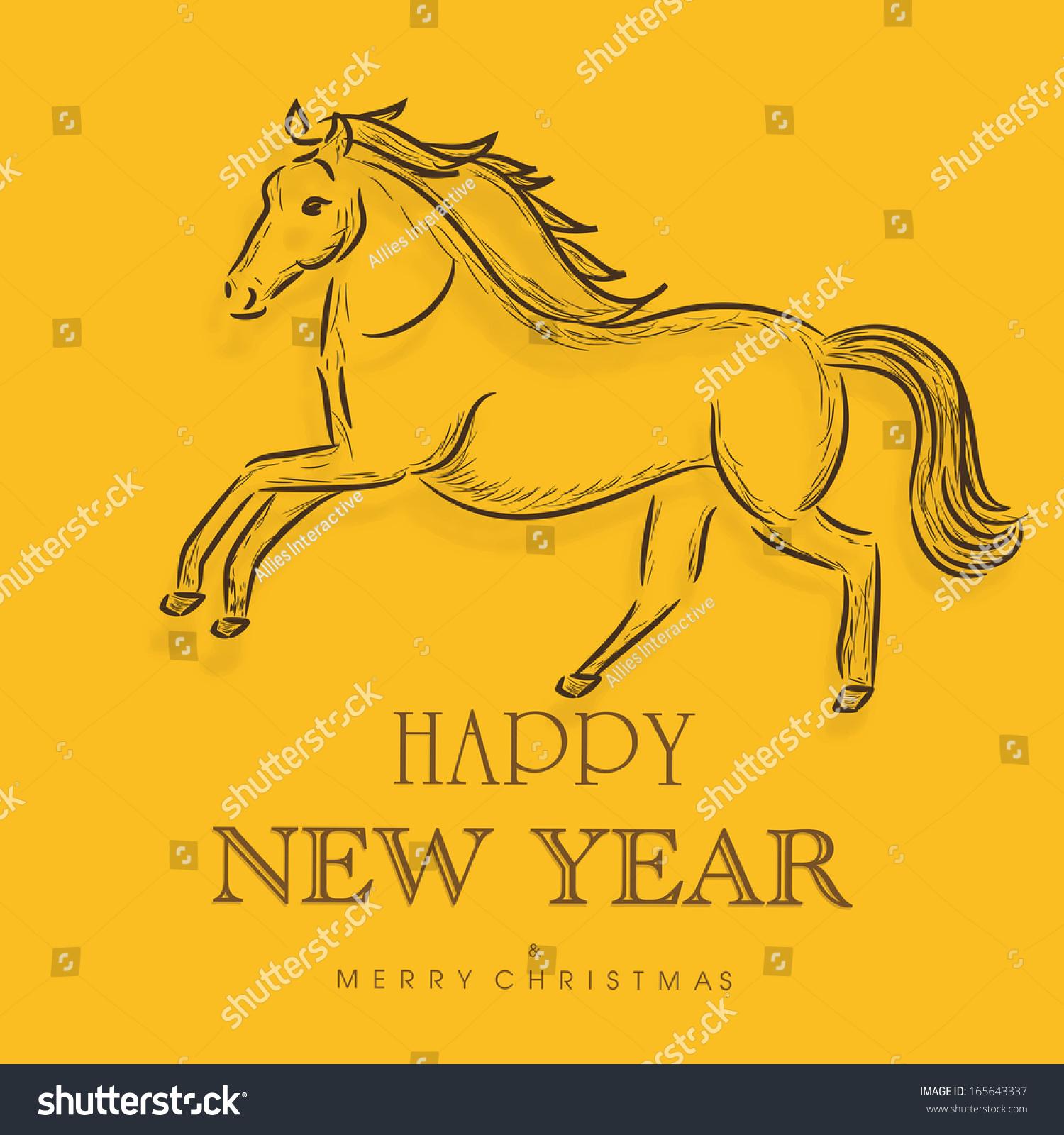 Happy New Year 2014 Celebration Flyer Stock Vector 165643337