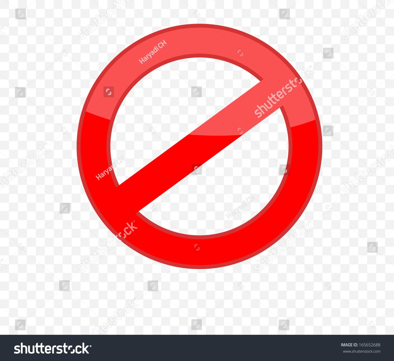 Not Allowed Sign Stock Vector 165652688