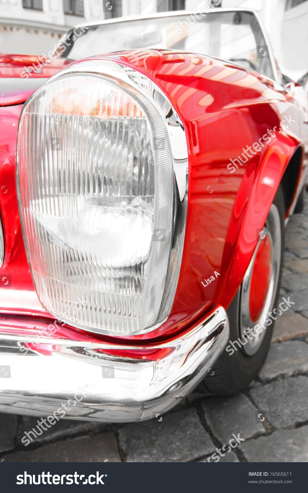 Old-Fashioned Luxury Red Car Stock Photo 16565611