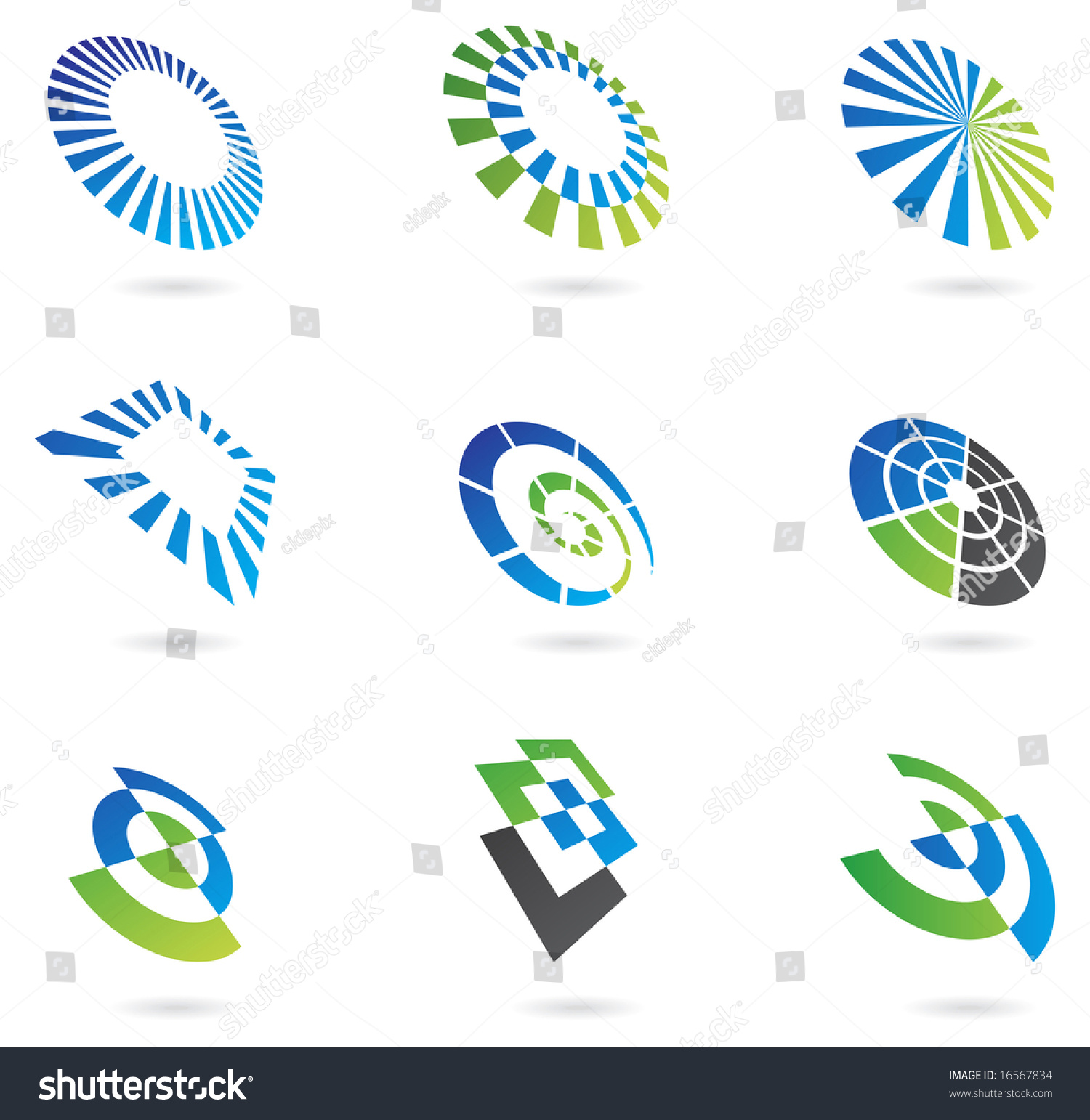 Visual Design Elements : Logos graphic design elements stock vector