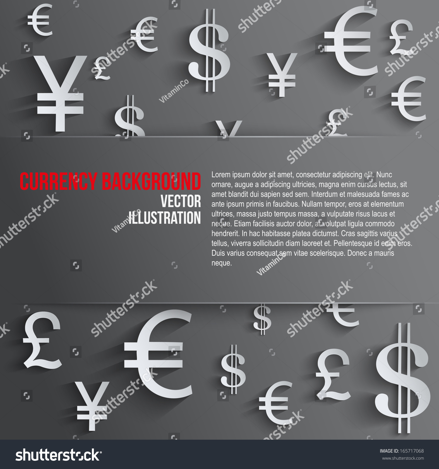Currency symbol space text background about stock vector 165717068 currency symbol with space for text background about money and the exchange rate currency biocorpaavc Images