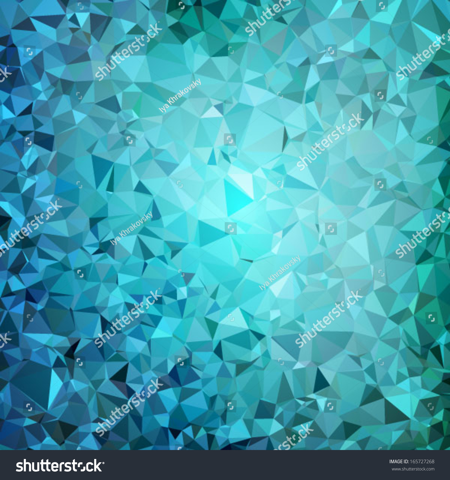 Turquoise Background Geometric Abstract Glowing Vector