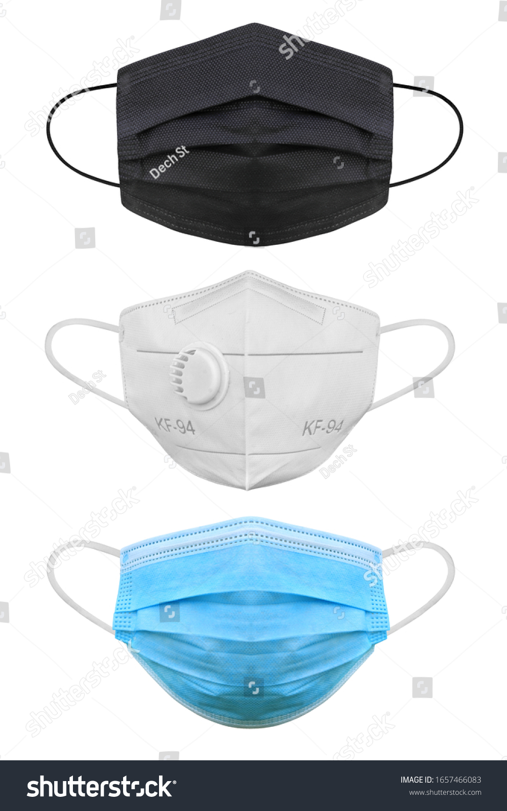 Doctor mask and corona virus protection isolated on a white background, With clipping path #1657466083