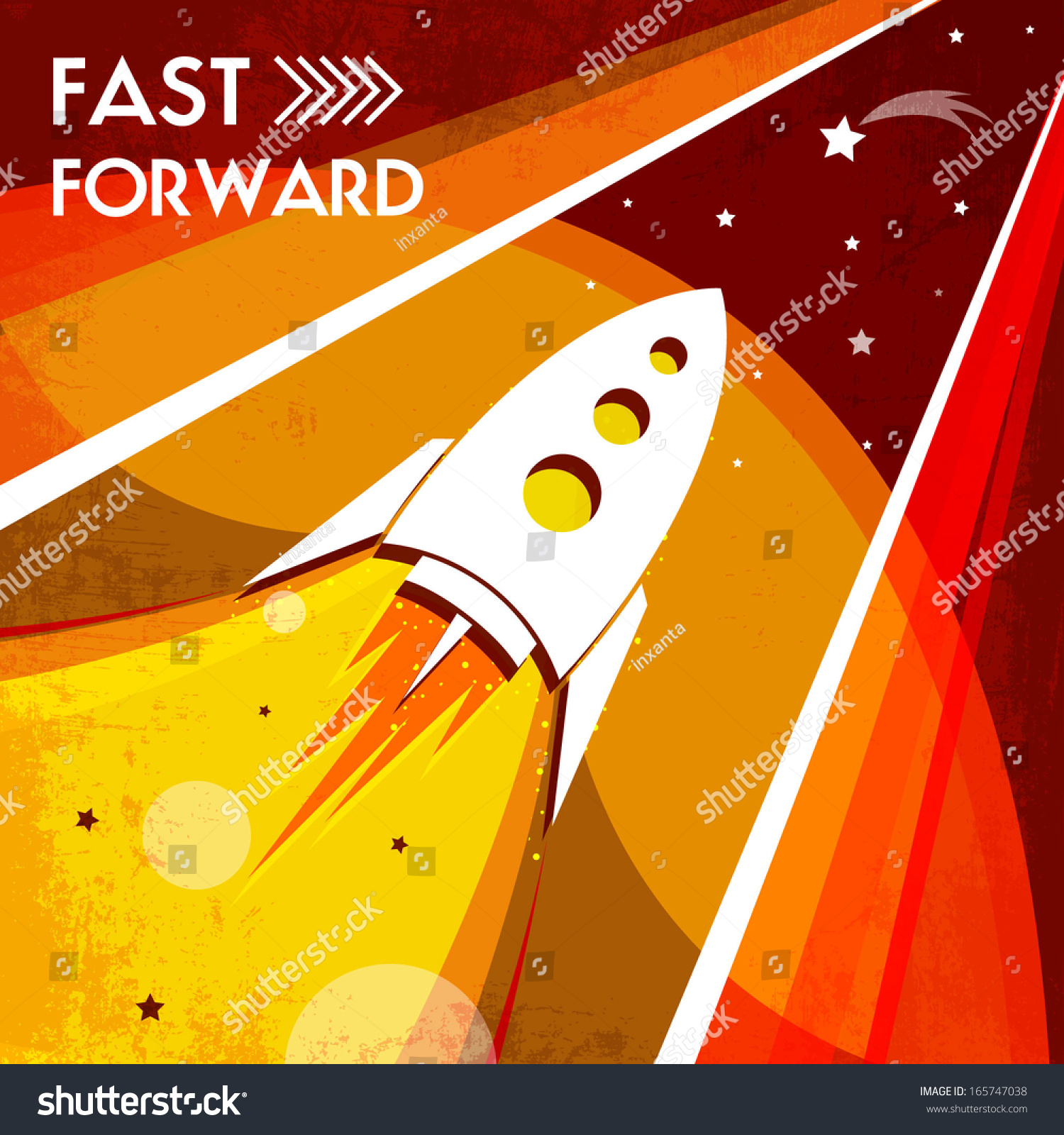 Beautiful design poster on space theme stock vector for Space poster design