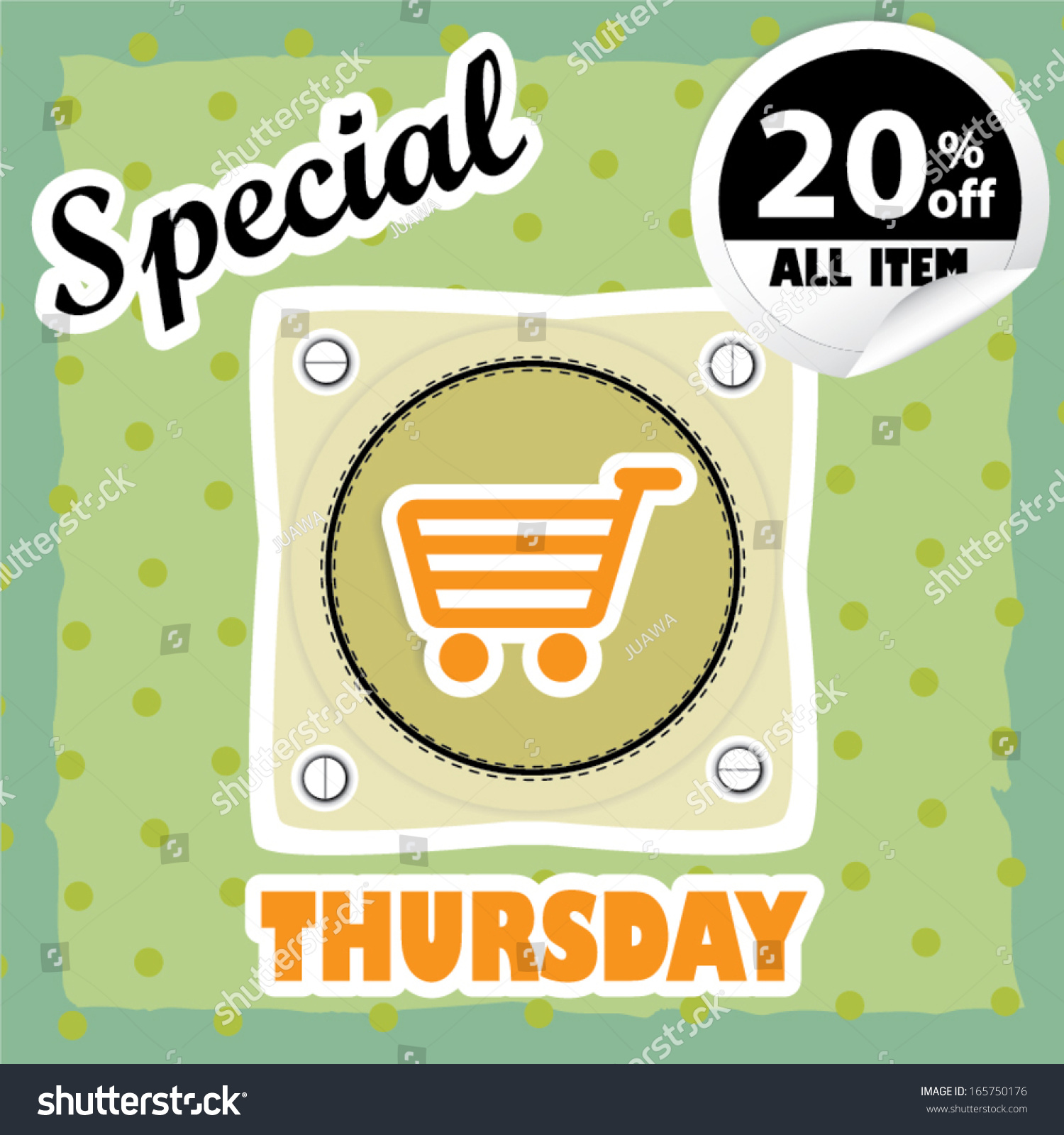 Special Thursday Sales Label Eps 10 Stock Vector Royalty Free 165750176