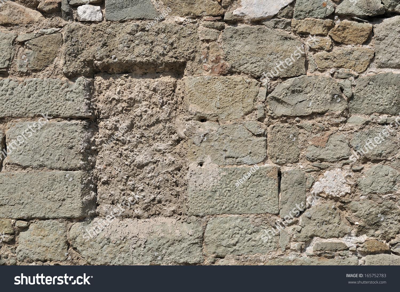 Rough Granite Block : Weathered antique rough cracked stone blocks stock photo