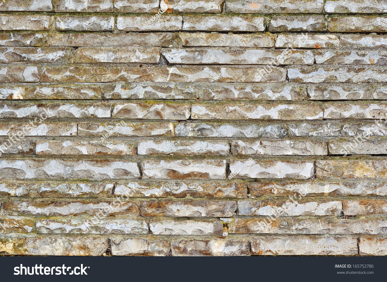 Rough Granite Block : Weathered antique old rough stone blocks stock photo