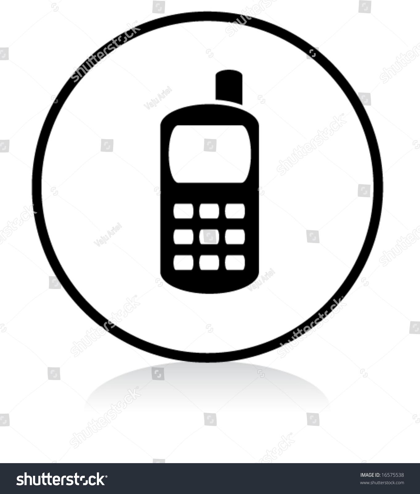 Illuminated Sign White Version Mobile Phone Stock Vector