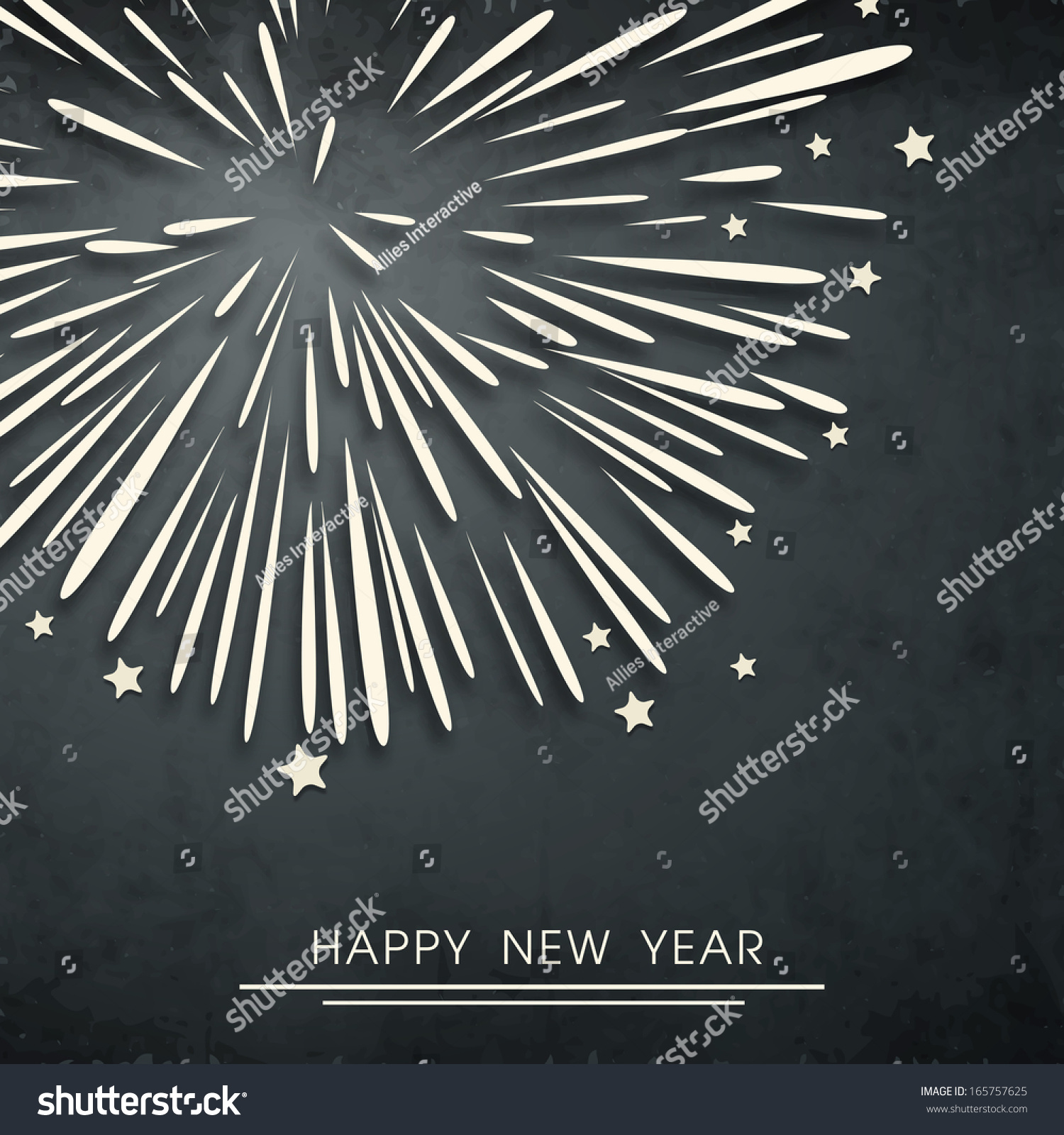 Happy New Year 2014 Celebration Flyer Stock Vector 165757625 ...