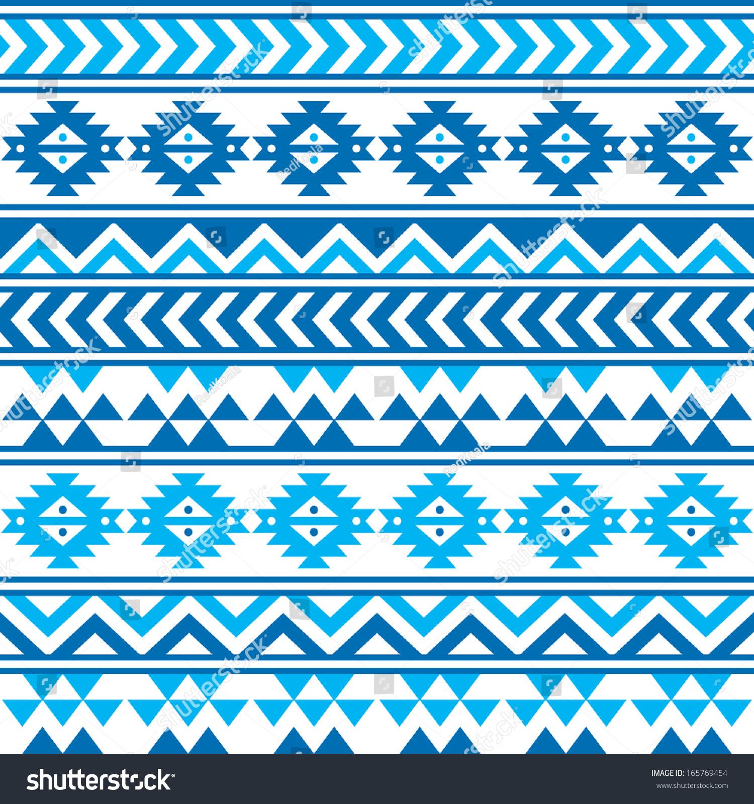 Blue tribal wallpaper pattern