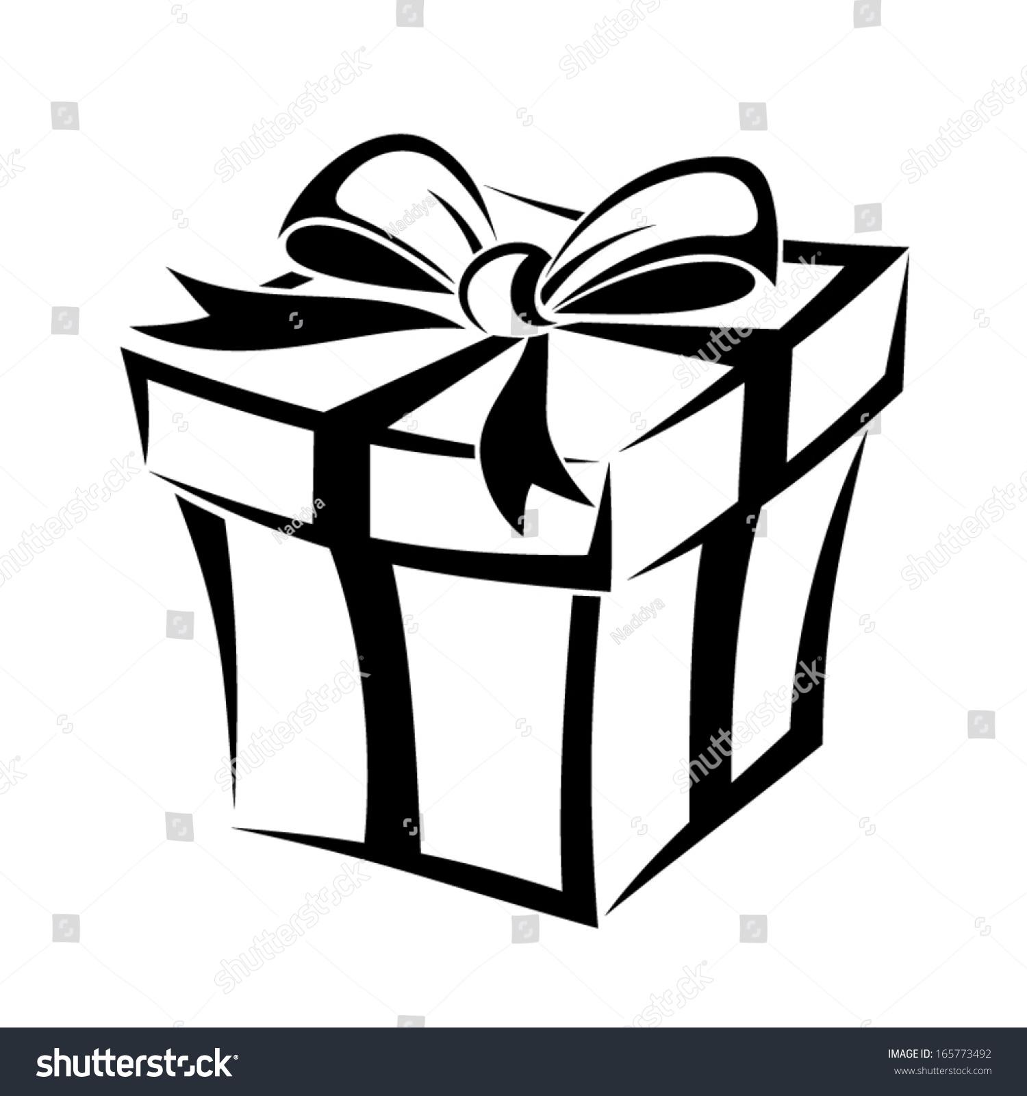 Gift Box  Vector Black...