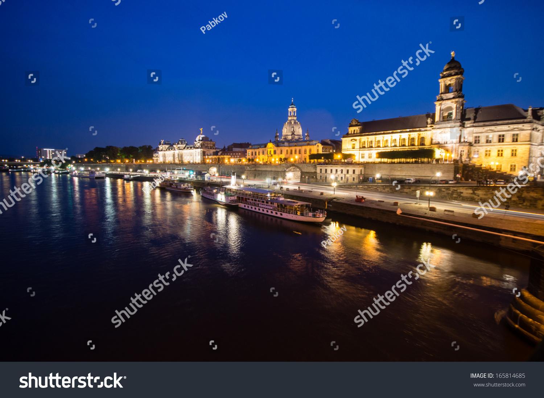 Fabelhaft Skyline Dresden Das Beste Von At Night, Germany