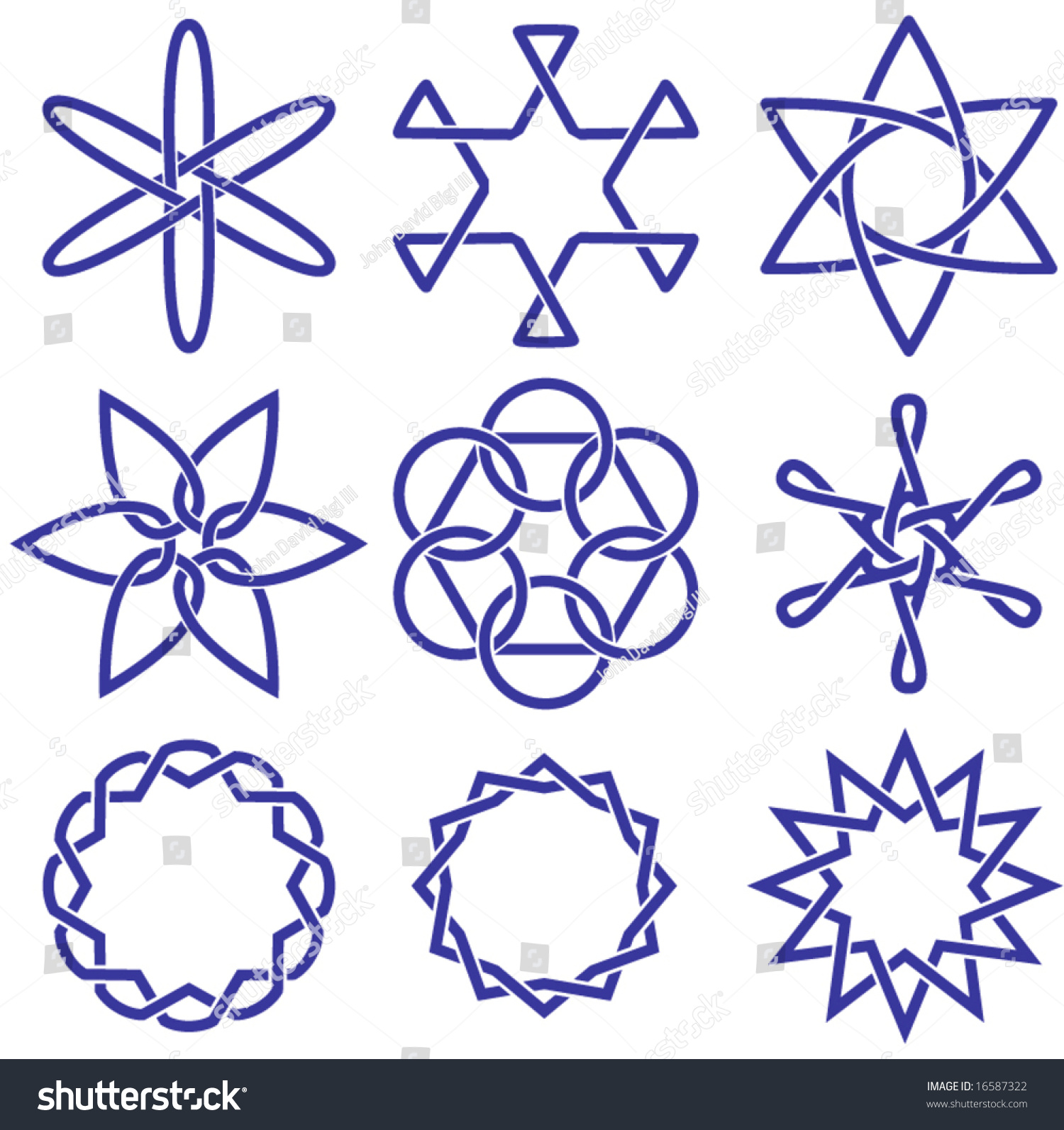 Various Vector Celtic Knot Symbols 6 Stock Vector 16587322