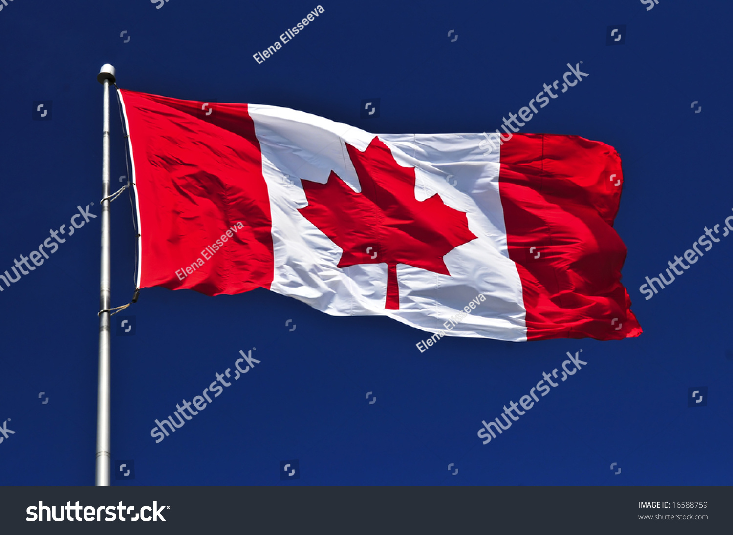 how to draw a canadian flag in the wind