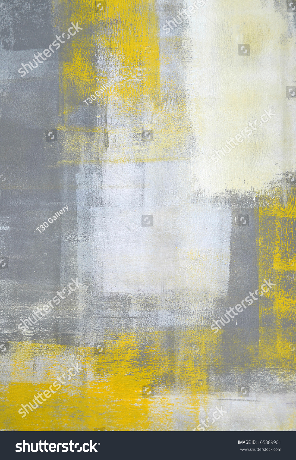 Grey Yellow Abstract Art Painting Stock Illustration ...Yellow Abstract Painting