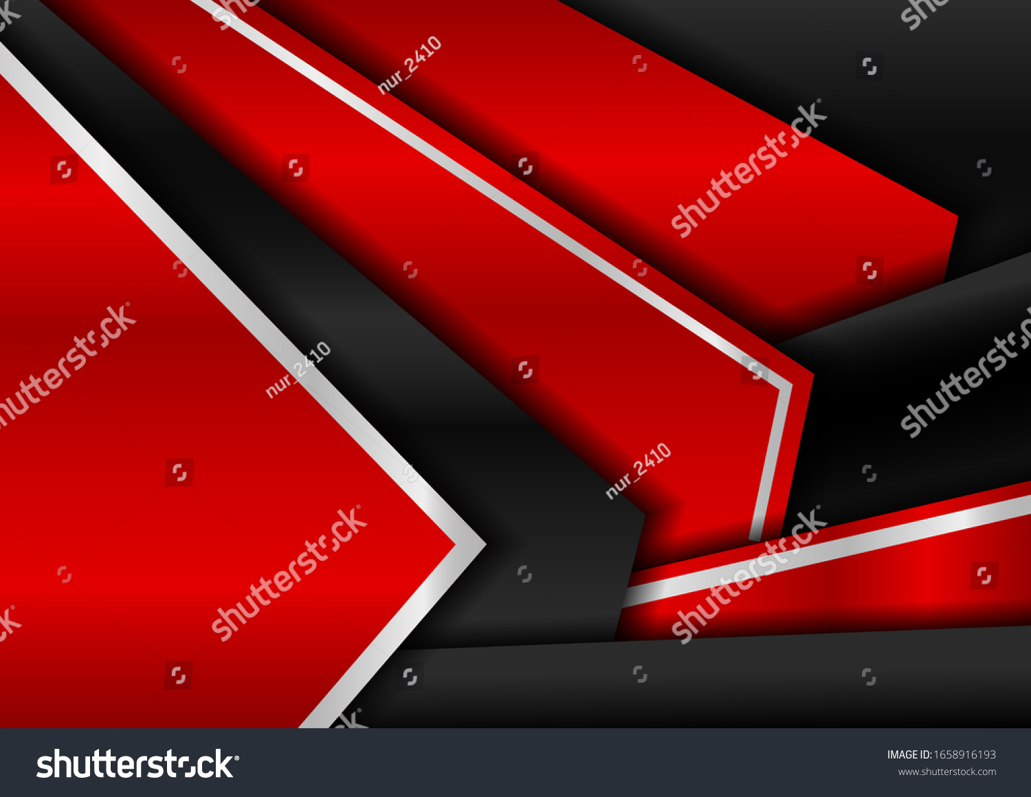 Dark Black Red Abstract Metal Background Stock Vector Royalty