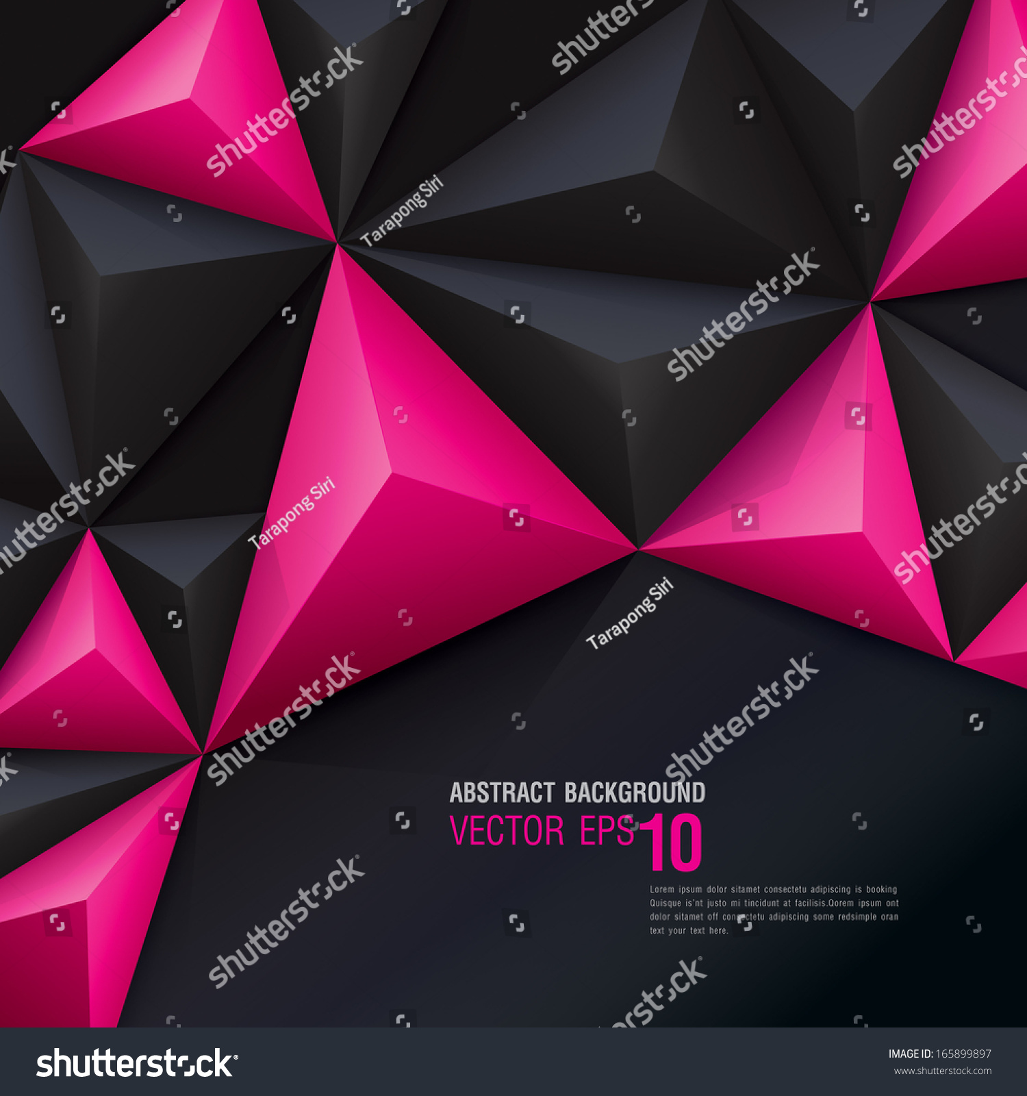 Wallpaper Black Pink: Pink Black Vector Geometric Background Can Stock Vector