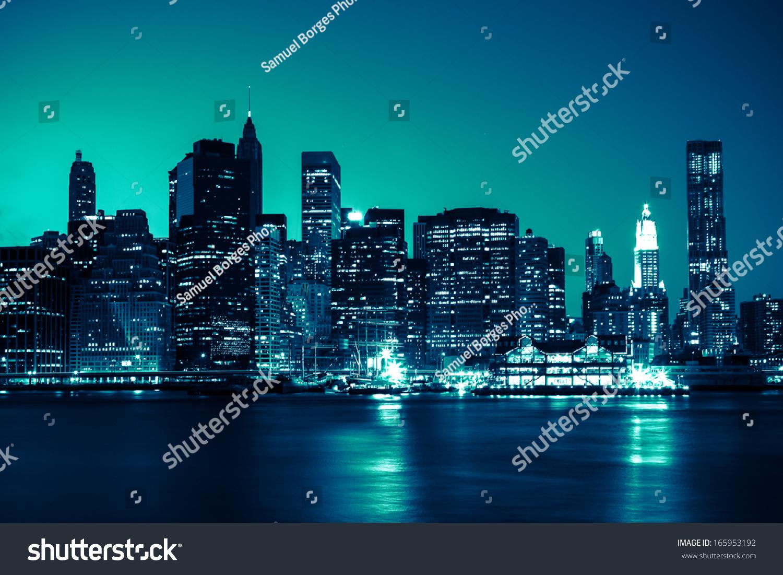 night skyline view of - photo #28