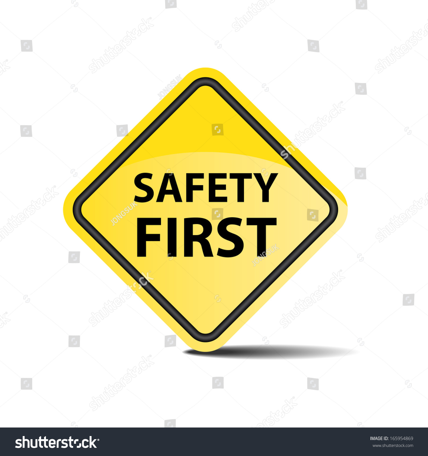 Safety First Symbol Sign Stock Illustration 165954869 Shutterstock