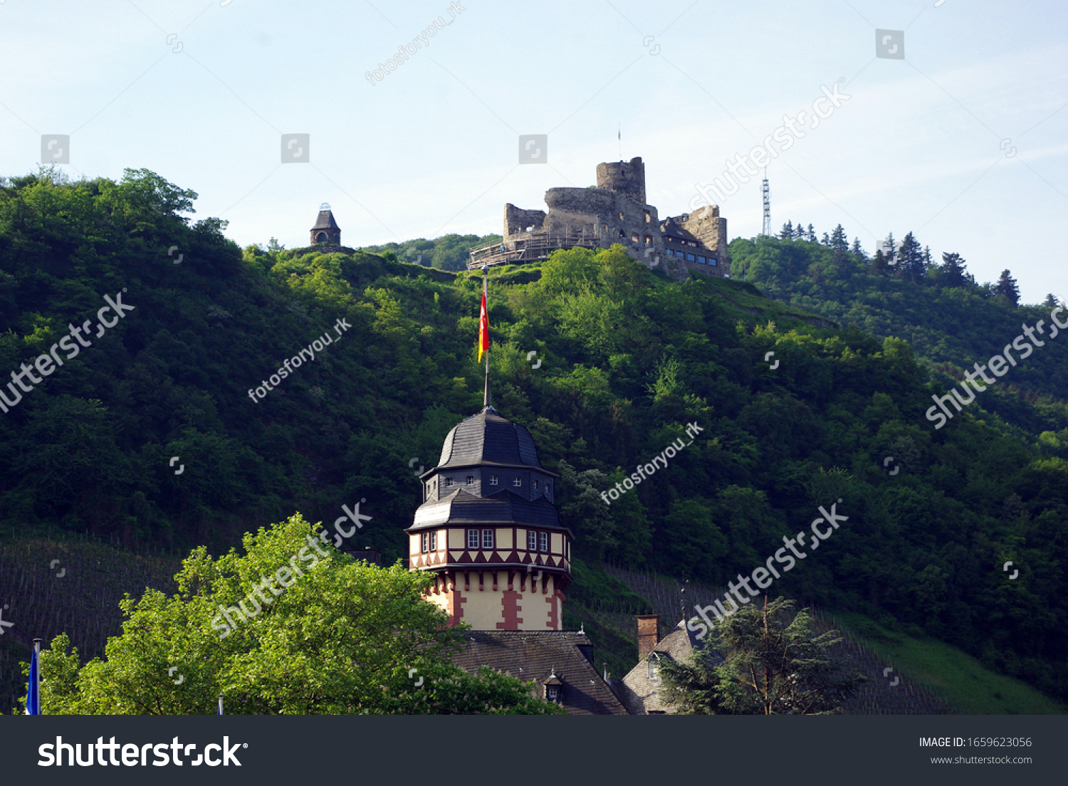 Castle in Cochem on the Moselle