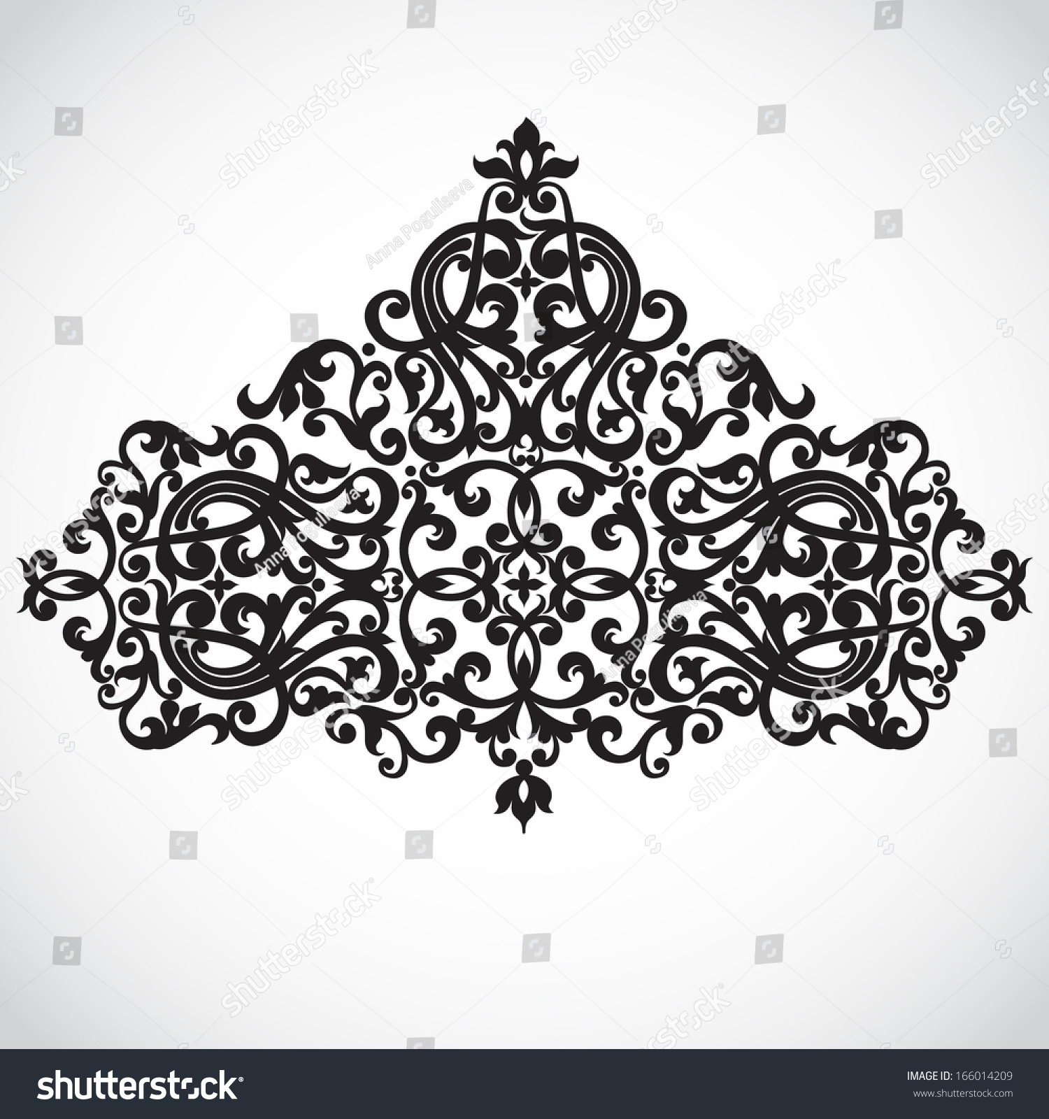 Vector baroque ornament in victorian style ornate element for Baroque design clothes