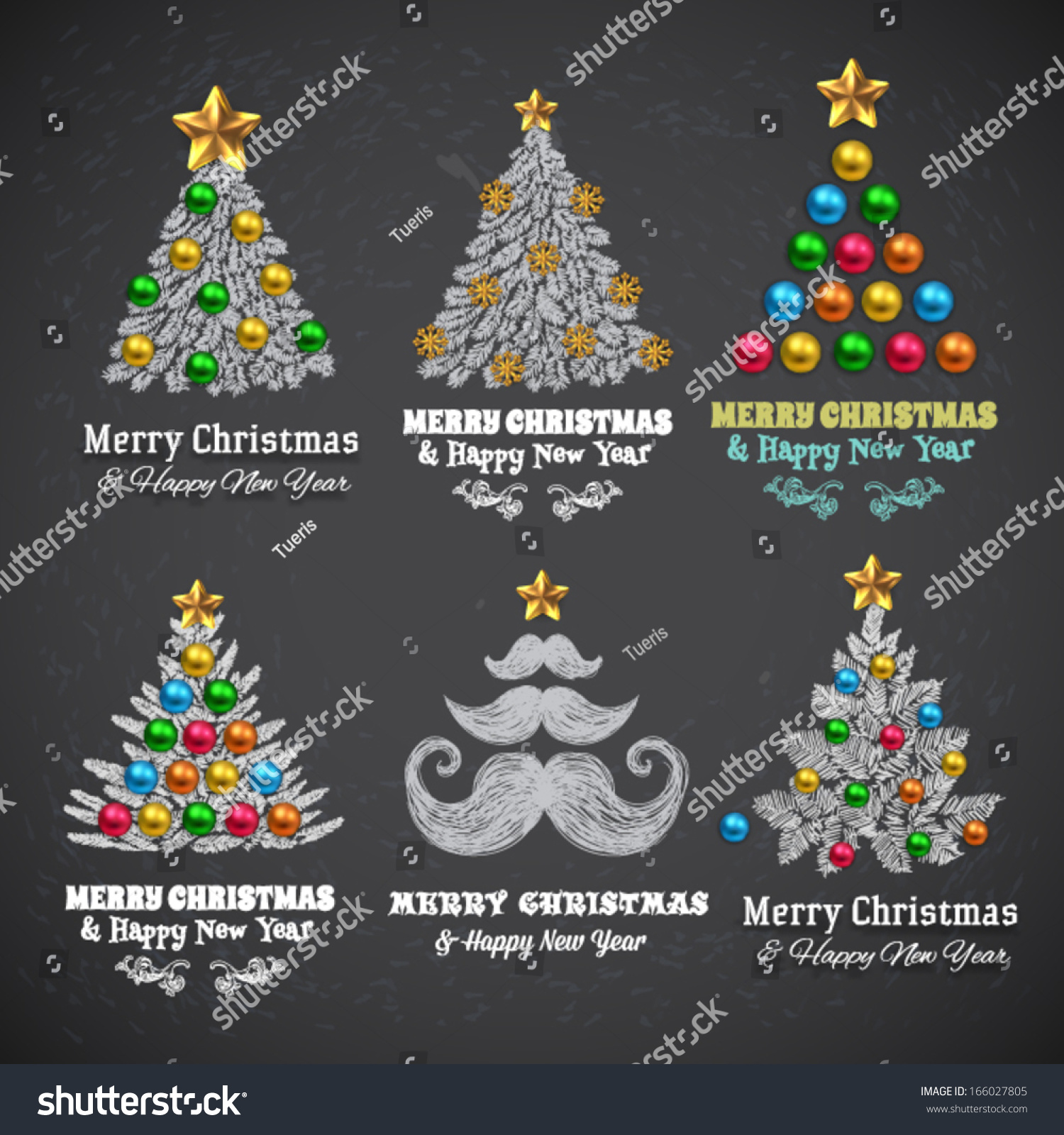 Christmas Tree Balls Gifts Vector Design Stock Vector Royalty Free