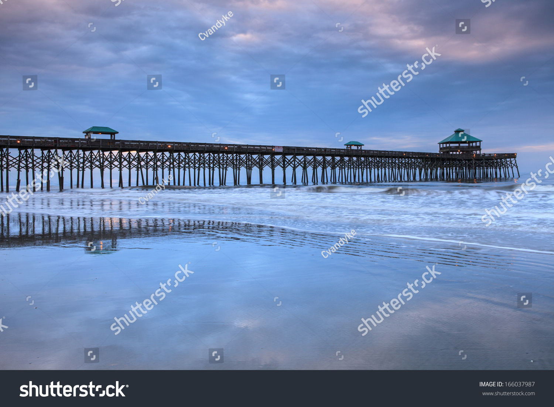 Fishing pier on folly beach south carolina near for Free fishing piers near me