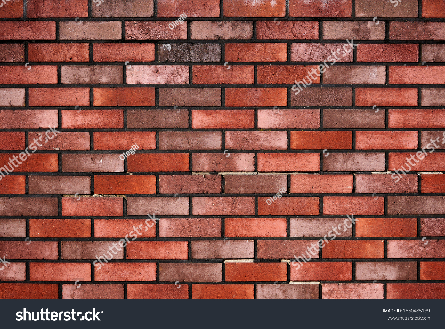 Brick wall with red brick, red brick background.