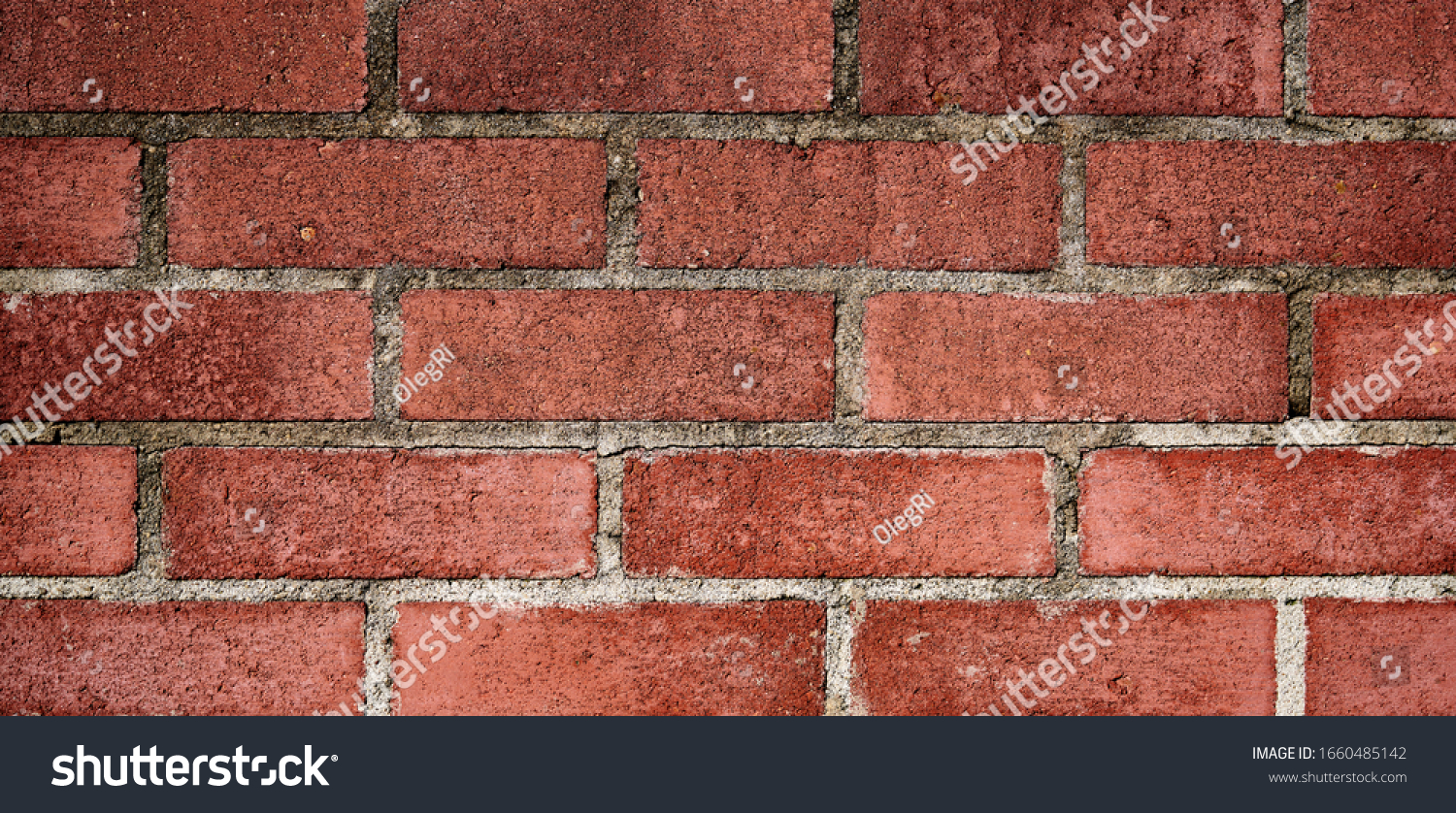 Brick wall with red brick, red brick background. #1660485142