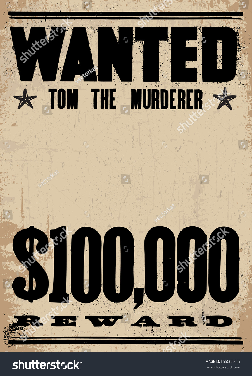 Criminal Wanted Poster WANTED MOST WANTED Wanted Poster Outlaw Wild ...