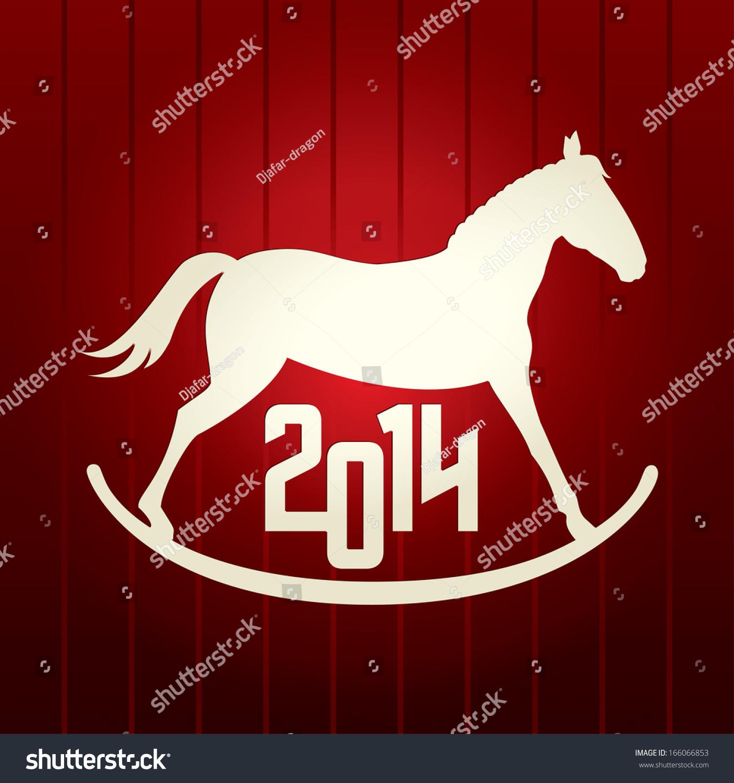 New year vector red background horse stock vector 166066853 new year vector red background horse symbol of 2014 buycottarizona