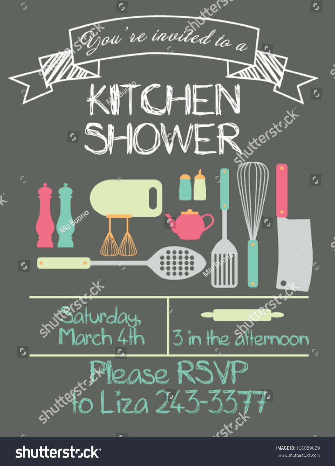 Kitchen Shower Kitchen Shower Stock Vector 166089029 Shutterstock