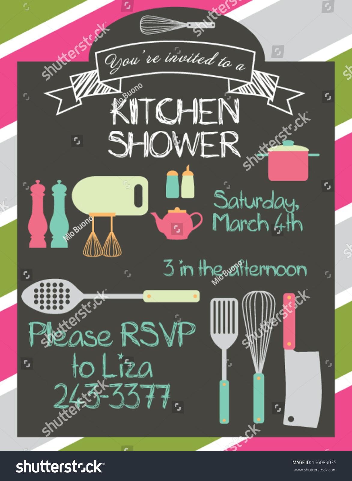 Kitchen Shower Kitchen Shower Stock Vector 166089035 Shutterstock