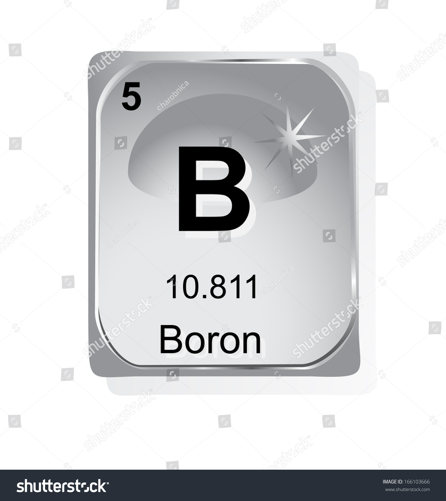 Chemical element boron from the electric motor starter wiring boron chemical element atomic number symbol stock vector 166103666 stock vector boron chemical element with atomic gamestrikefo Image collections