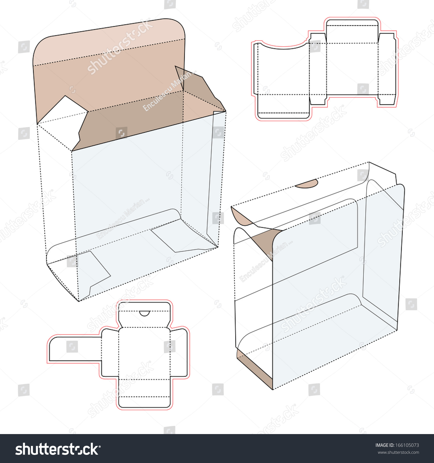 perfume cardboard box blueprint template stock vector 166105073 shutterstock. Black Bedroom Furniture Sets. Home Design Ideas
