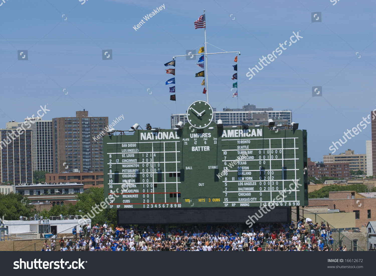 Chicago cubs center field scoreboard wrigley stock photo 16612672 chicago cubs center field scoreboard at wrigley field buycottarizona Images