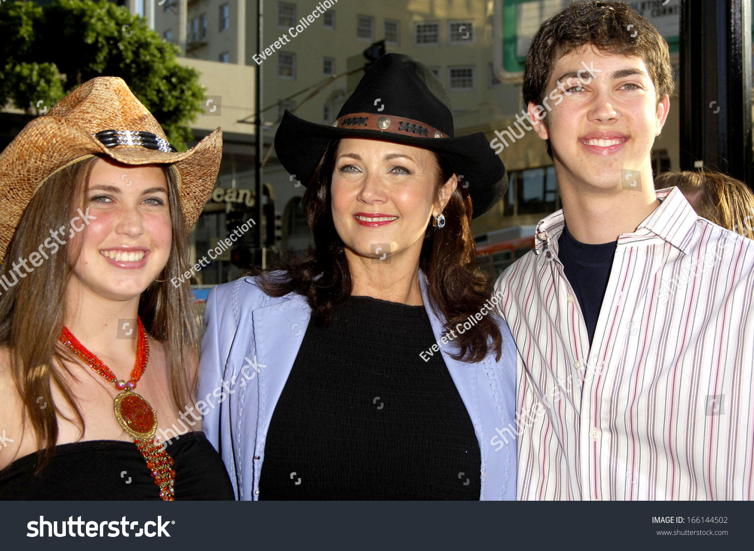 Lynda with her son James and daughter Jessica
