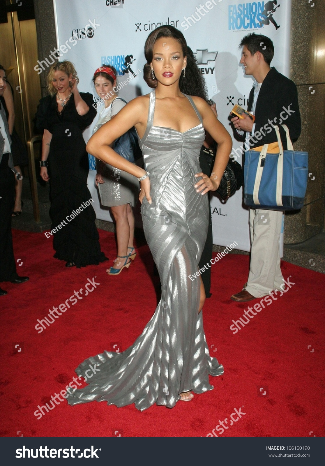 Rihanna Gown By Zac Posen Fashion Stock Photo (Edit Now) 166150190 ...