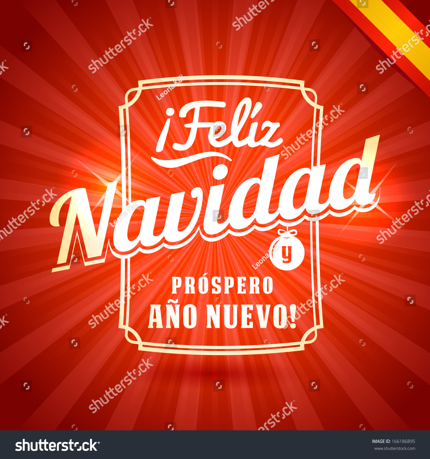 Merry Christmas Happy New Year Greetings Stock Vector ...
