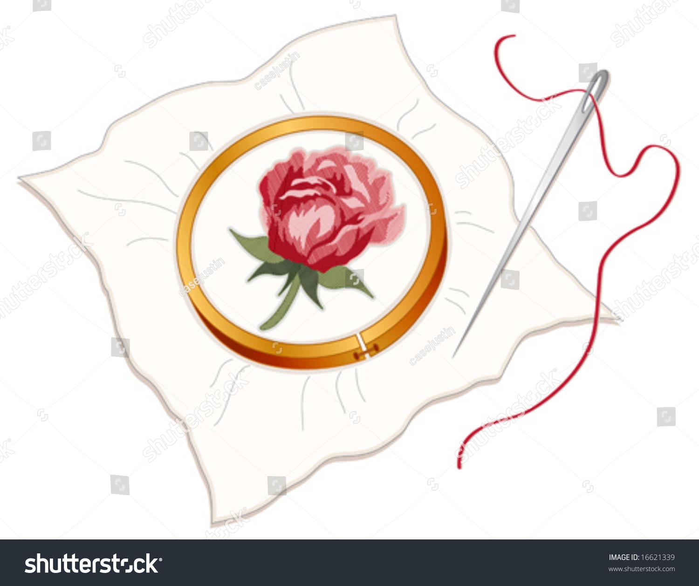 Embroidery hoop vector makaroka
