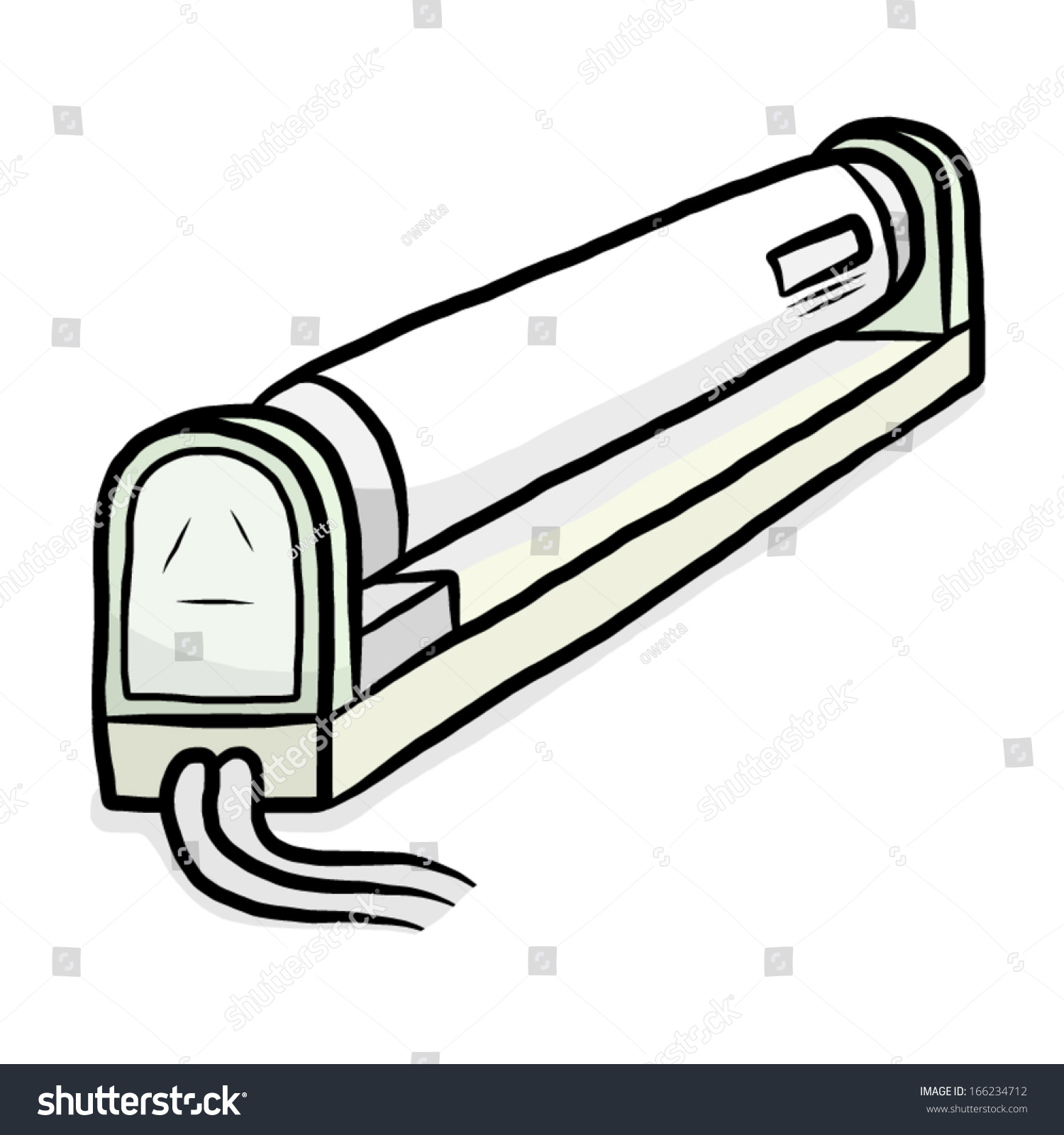 Fluorescent Lamp Cartoon Vector Illustration Isolated Stock Vector ... for Fluorescent Tube Drawing  181pct