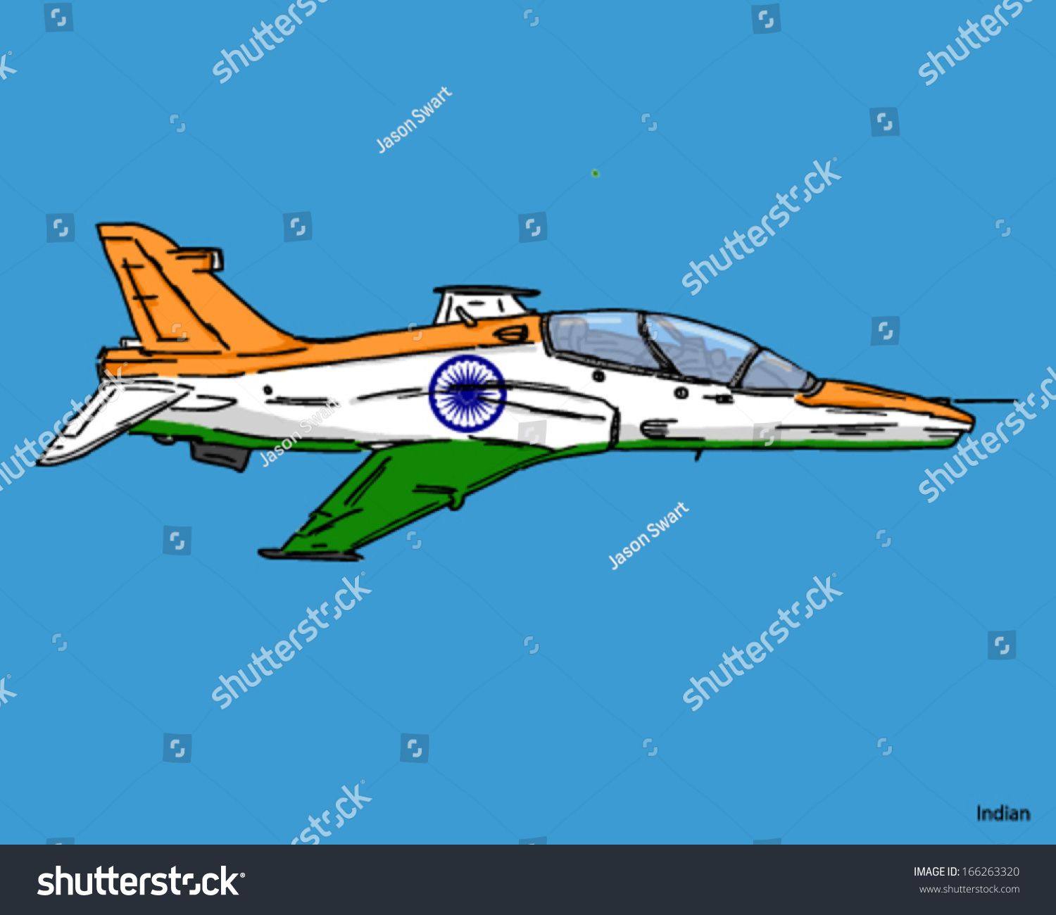 airplane fighter jet indian flag colors stock vector royalty free