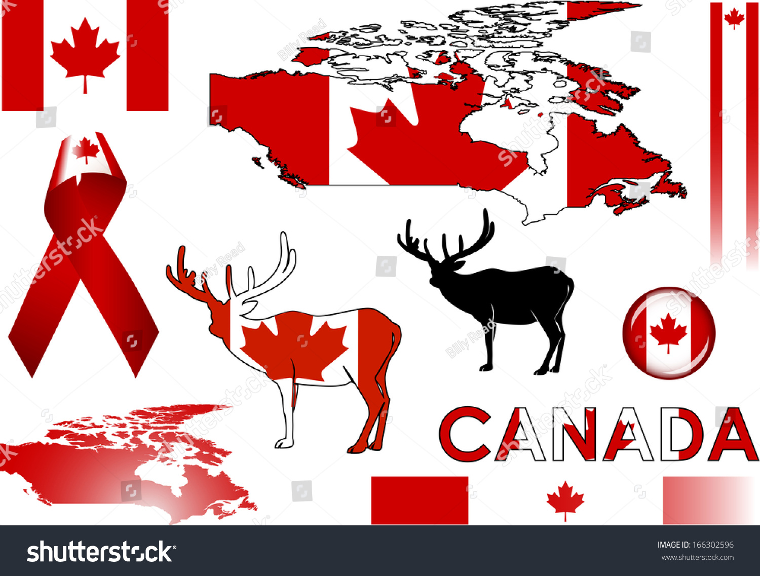 Canada Icons Set Vector Graphic Images Stock Vector Royalty Free