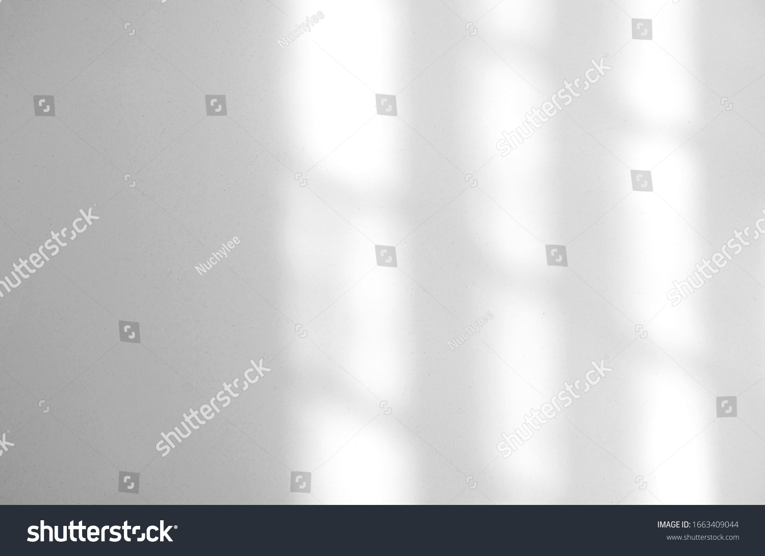 Window natural shadow overlay effect on white texture background, for overlay on product presentation, backdrop and mockup, summer seasonal concept #1663409044